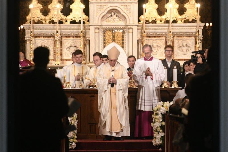 Pope Francis wizyta Rumunia fotografia royalty free