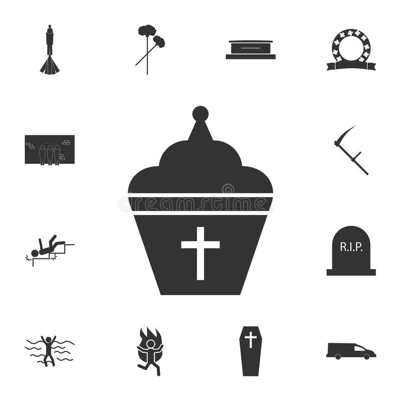 Pope hat Icon. Detailed set of death icons. Premium quality graphic design. One of the collection icons for websites, web design,. Mobile app on white stock photos