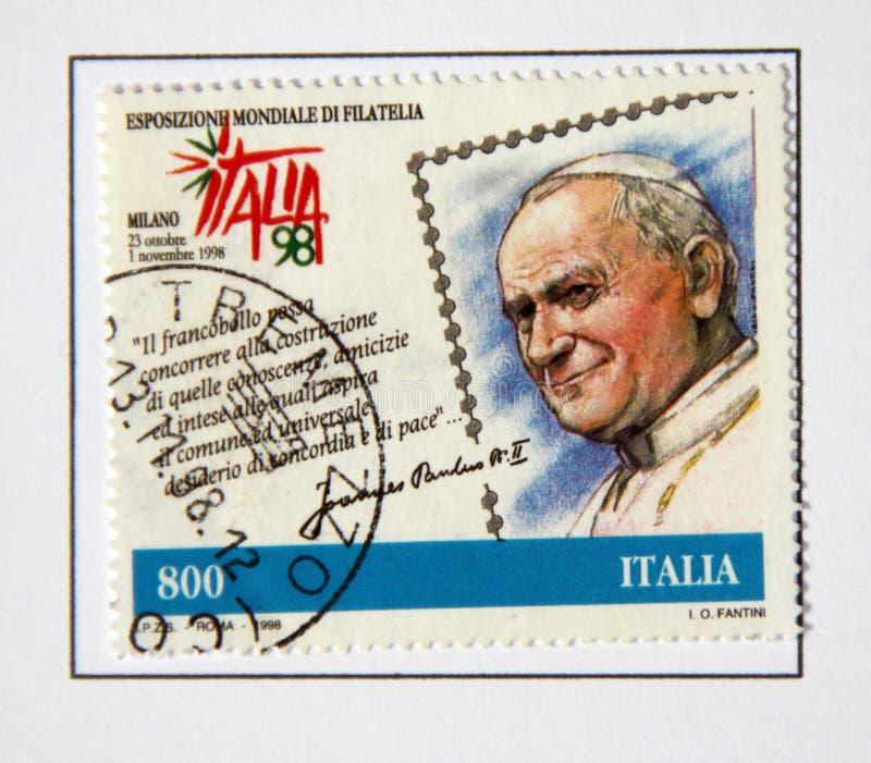 pope ii john Паыль стоковое изображение