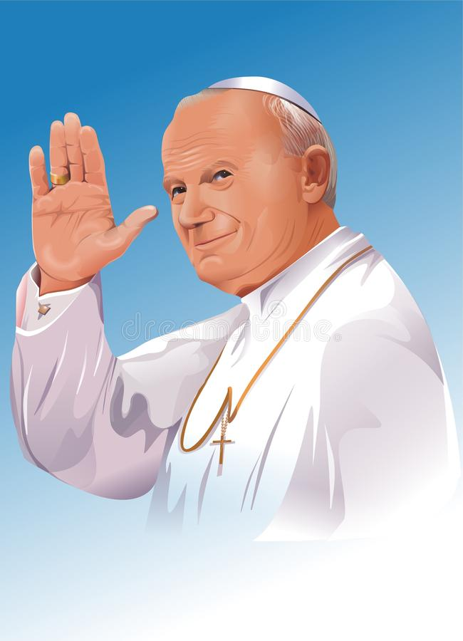 Pope John Paul II royalty free stock photo