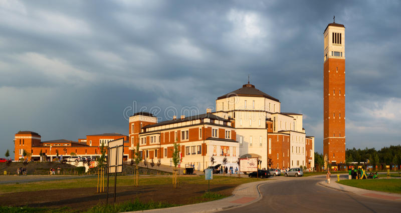 Pope John Paul II Sanctuary in Krakow, Poland. World Youth Day 2 stock images