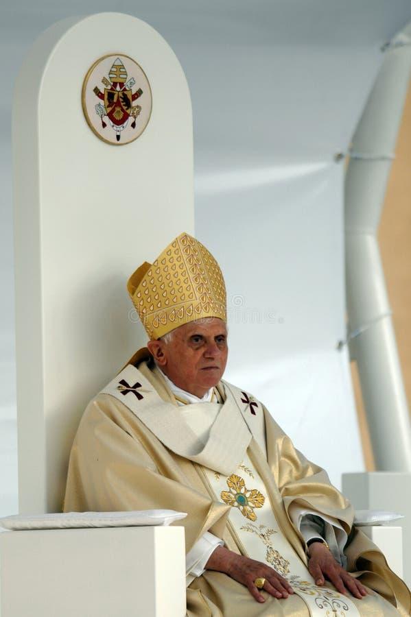 Pope Joseph Benedict XVI fotografering för bildbyråer
