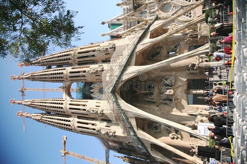 Pope's visit Sagrada Familia royalty free stock photos