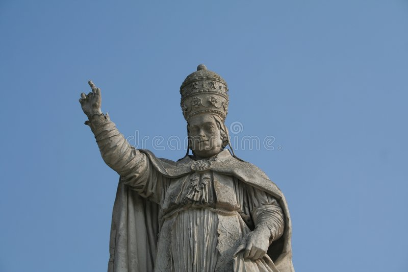 A Pope Statue Stock Photo