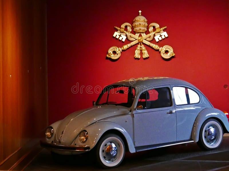 Popemobilemuseum royaltyfria bilder