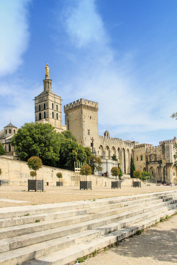 Popes Palace in Avignon, France royalty free stock photo