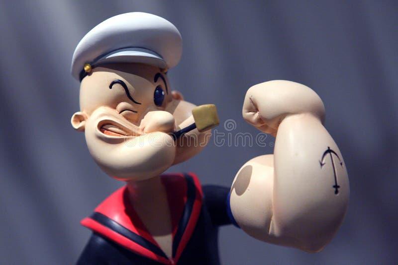 Popeye ο ναυτικός στοκ φωτογραφία με δικαίωμα ελεύθερης χρήσης