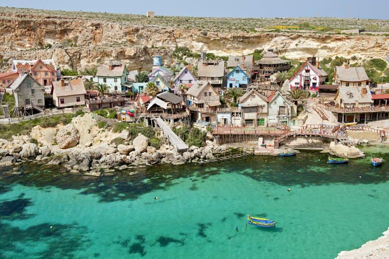 Popeye by, Malta royaltyfri fotografi