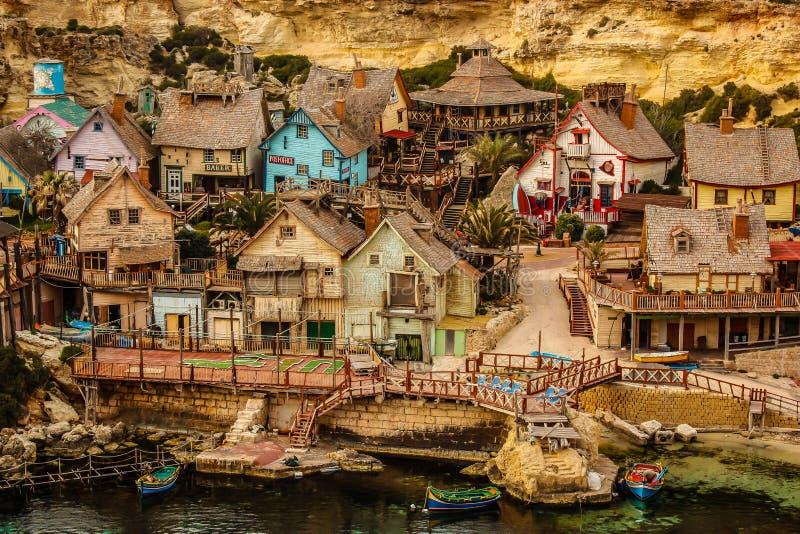 Popeye village stock image