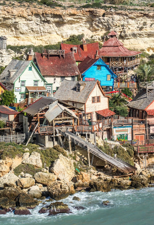 Popeye Village, Malta stock photography