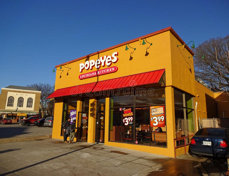 Popeyes Fast Food in Washington DC stock images