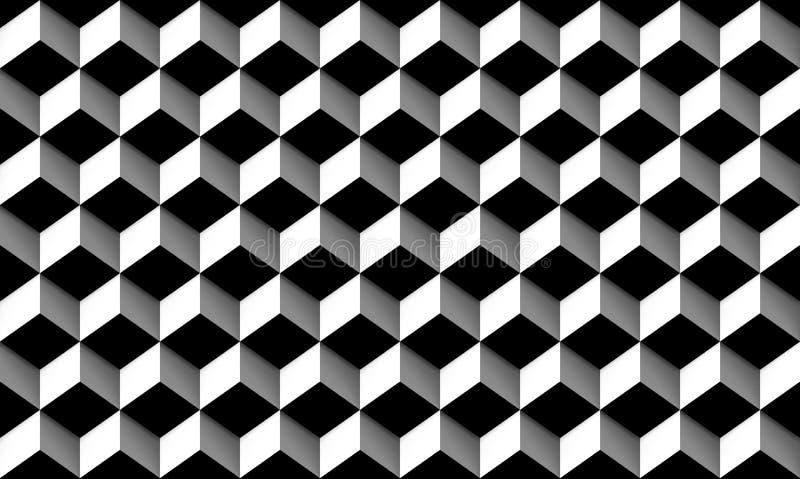 Popielaci prostokątów pudełka Płytki z cieniami, bezszwowa tekstura ilustracji
