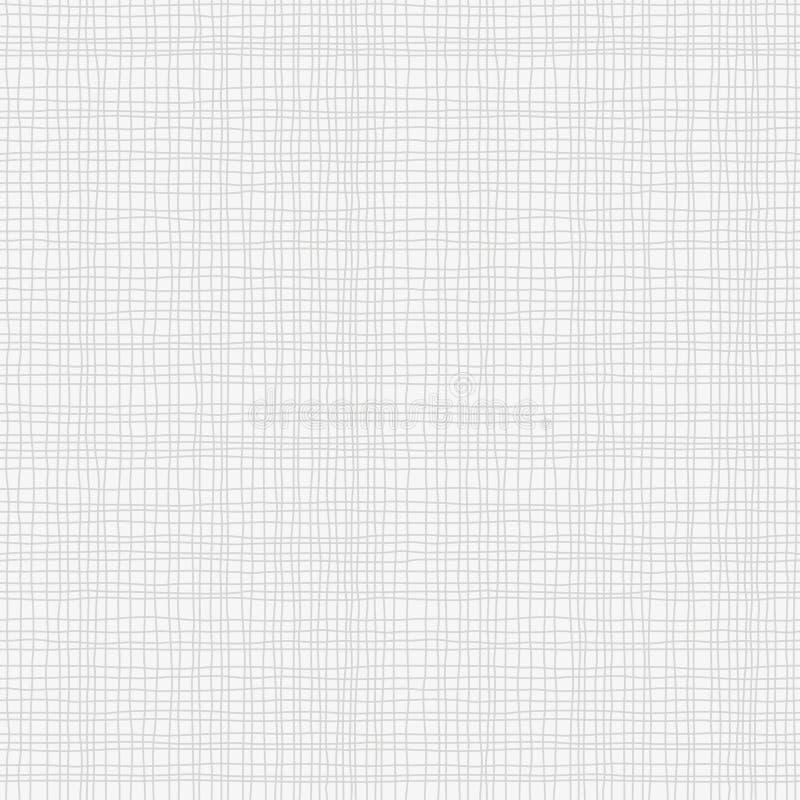 Popielata brezentowa burlap tekstura, bezszwowy w kratkę wzór Szara Bieliźniana tkaniny tkanina royalty ilustracja
