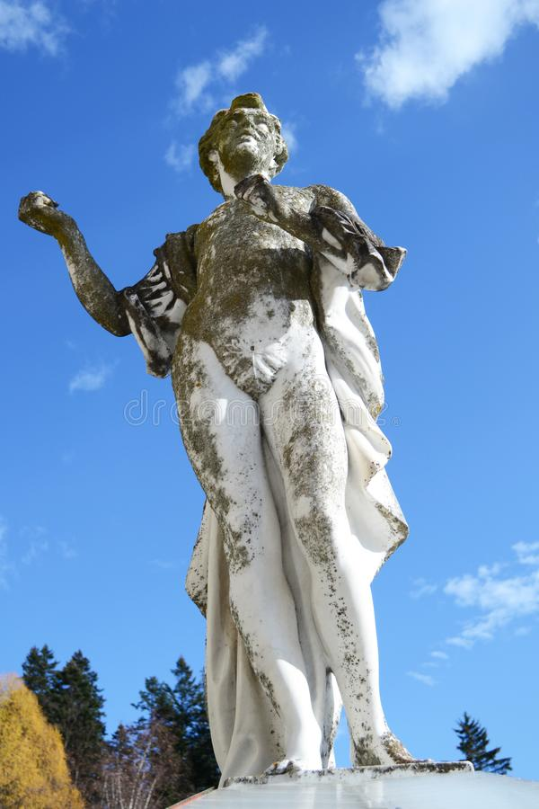 Popielata i biała statua zdjęcie royalty free