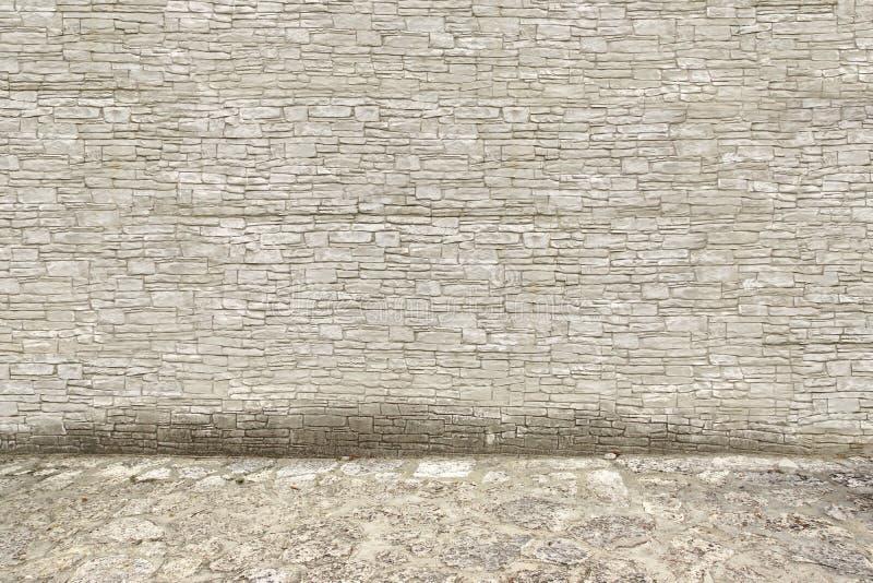 Popielata Kamienna ściana i podłoga fotografia stock