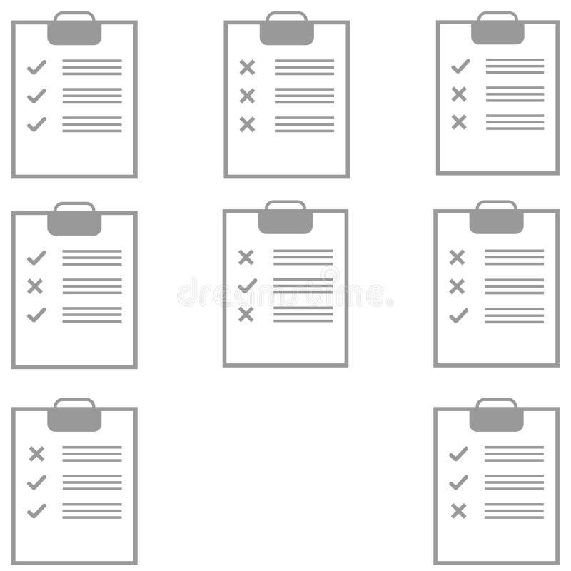 Popielata pastylka z różnym formularzowym plombowaniem ilustracja wektor