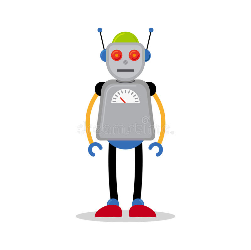 Popielata robot ikona royalty ilustracja