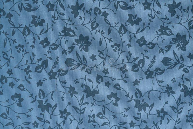 Popielata tkaniny tapeta z kwiatami ilustracja wektor