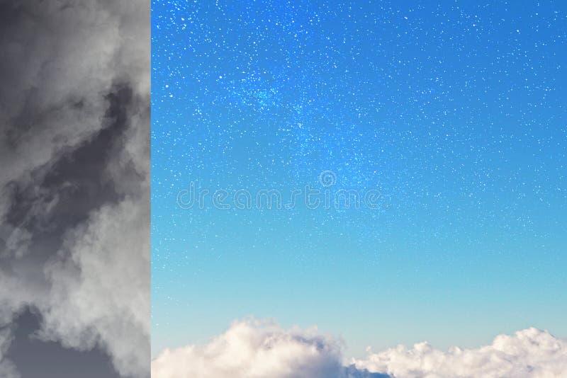 Popielate i błękitne części niebo royalty ilustracja