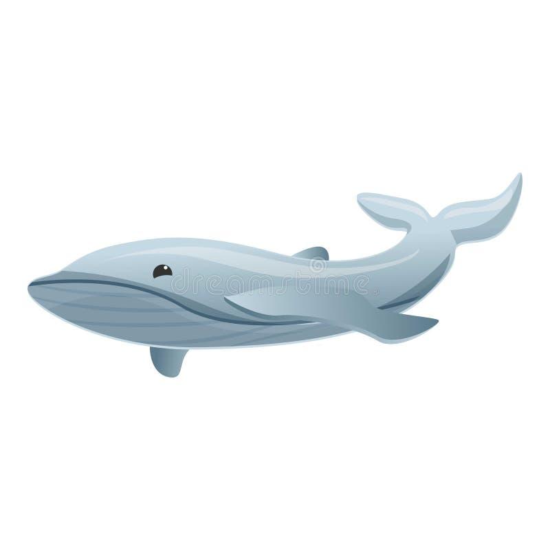 Popielatego wieloryba ikona, kreskówka styl royalty ilustracja