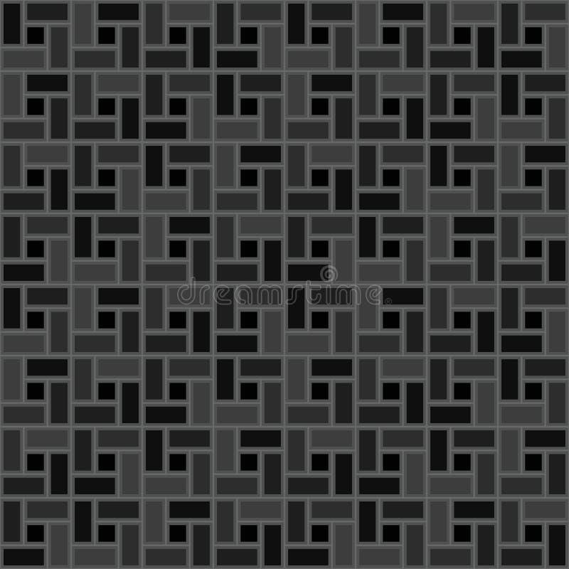 Popielatej cegły spirali płytki clockwise tekstury bezszwowy wzór royalty ilustracja