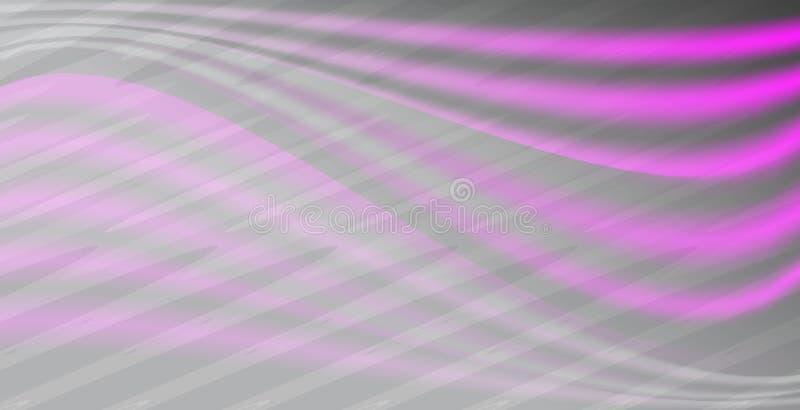 Popielatej i neonowej różowej siatki gradientowy wektorowy abstrakcjonistyczny tło w lekkim brzmieniu royalty ilustracja