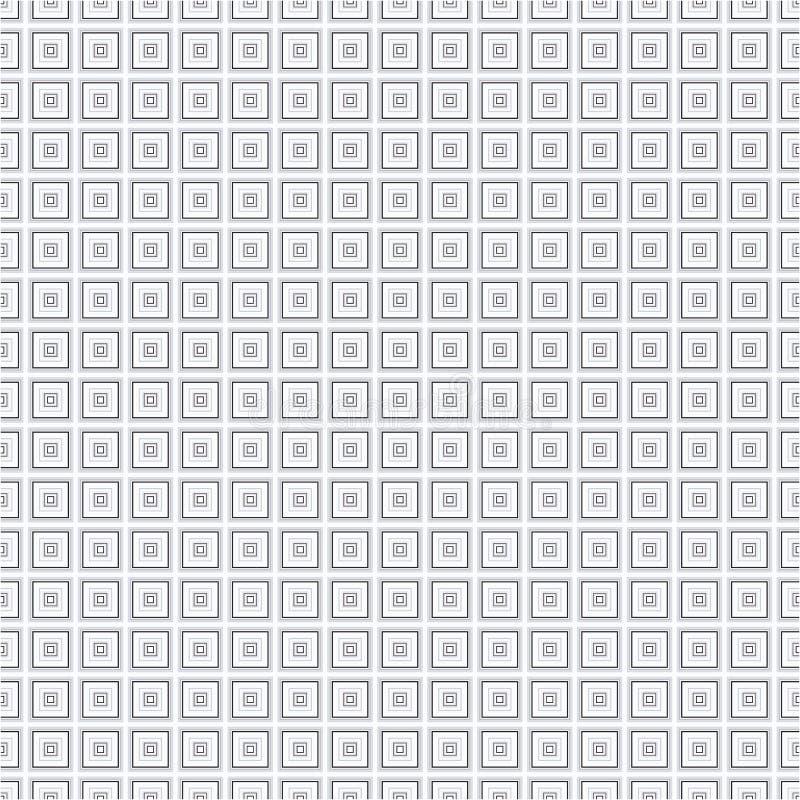 Popielatej Monochromatycznej sześcianu kwadrata tkaniny tła tekstury Wektorowy Bezszwowy wzór ilustracji