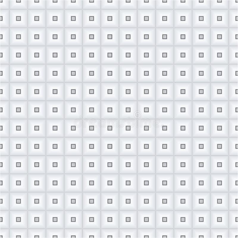 Popielatej Monochromatycznej sześcianu kwadrata tkaniny tła tekstury Wektorowy Bezszwowy wzór ilustracja wektor