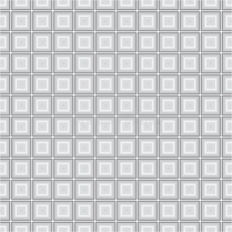Popielatej Monochromatycznej sześcianu kwadrata tkaniny tła tekstury Wektorowy Bezszwowy wzór royalty ilustracja