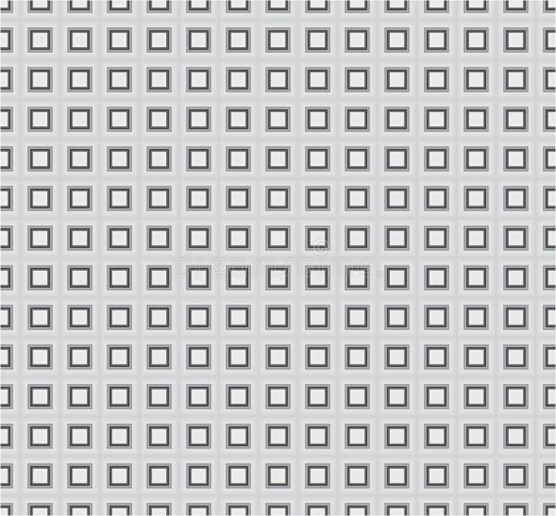 Popielatej Monochromatycznej sześcianu kwadrata tkaniny tła tekstury Wektorowy Bezszwowy wzór __009 royalty ilustracja