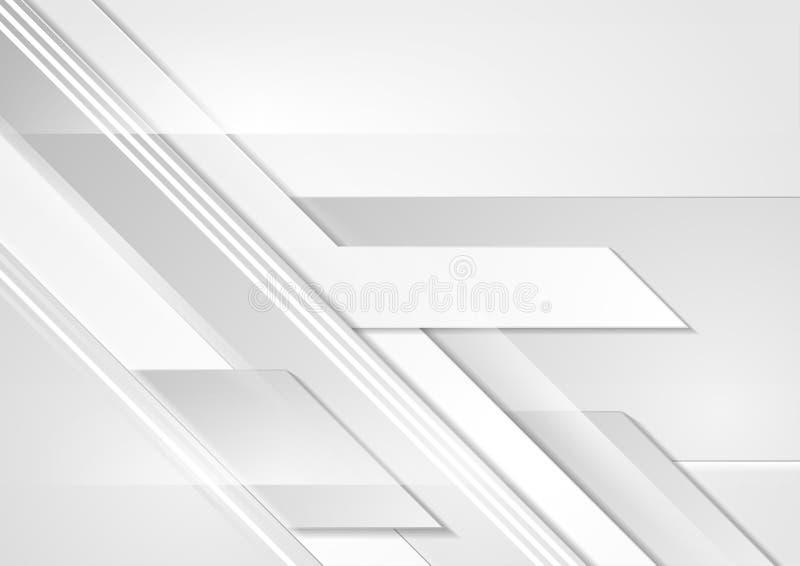 Popielatej techniki geometryczny korporacyjny abstrakcjonistyczny tło royalty ilustracja