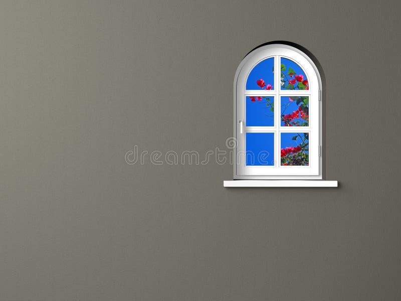popielaty ścienny biały okno royalty ilustracja