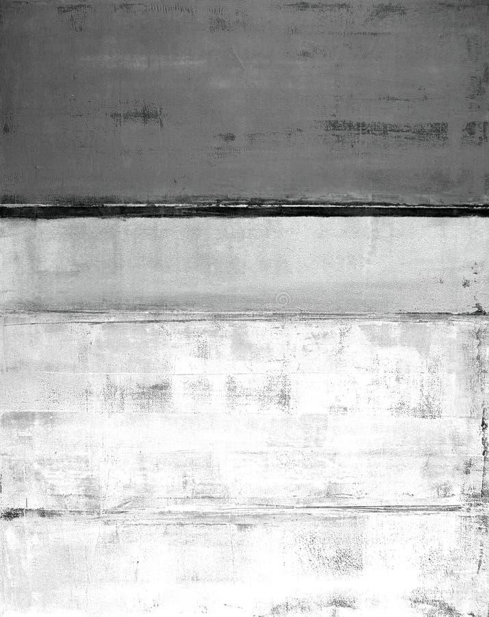 Popielaty Abstrakcjonistycznej sztuki obraz ilustracja wektor