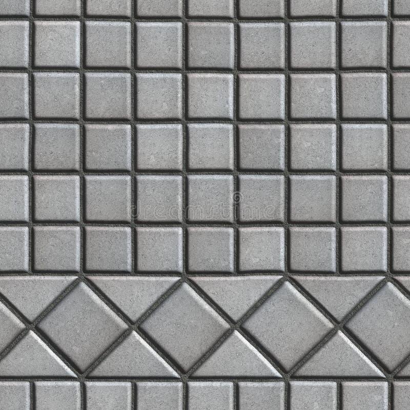 Popielaty Brukuje cegiełki w postaci Małych kwadratów i obrazy royalty free