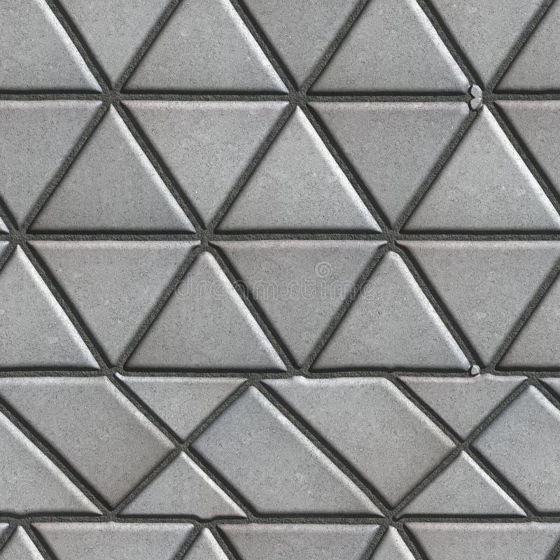 Popielaty Brukuje cegiełki w postaci trójboków i Inny zdjęcia royalty free