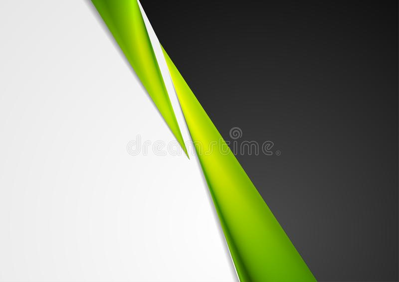 Popielaty, czarny i zielony abstrakcjonistyczny korporacyjny tło, ilustracja wektor