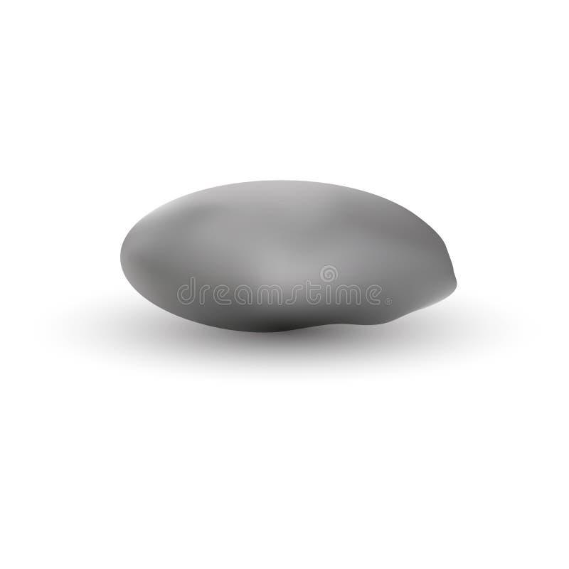 Popielaty gontu kamień z cienia wektorem eps10 Skała lub kamień realistyczni ilustracja wektor