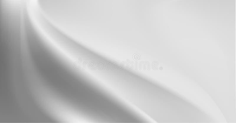 Popielaty jedwabniczy tło z niektóre miękkimi fałdami obrazy stock