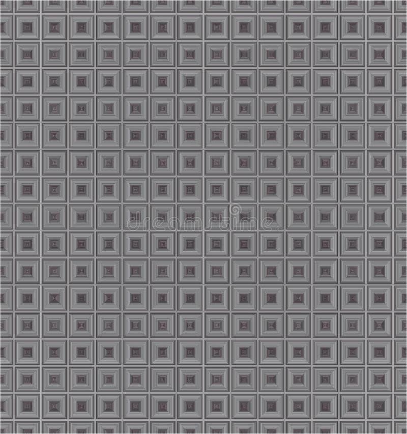 Popielaty Monochromatyczny sześcian Obciosuje tkaniny tła tekstury Wektorowego Bezszwowego wzór ilustracji