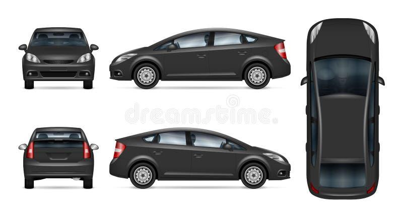 Popielaty samochodowy wektorowy szablon ilustracji