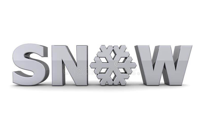 popielaty srebra śniegu płatka śniegu słowo ilustracja wektor