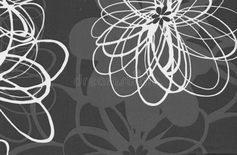Popielatych i białych kwiatów abstrakta tło ilustracja wektor