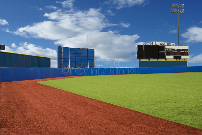 Popiera Śródpolnego baseballa pole obrazy royalty free