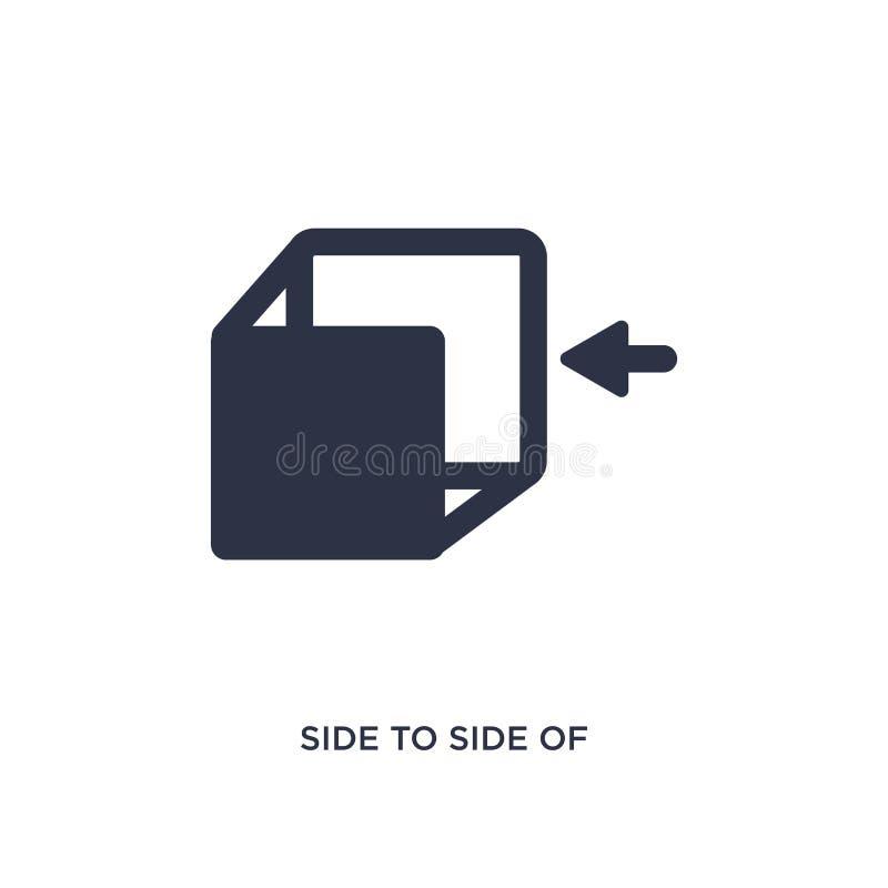 popiera kogoś strona sześcian ikona na białym tle Prosta element ilustracja od geometrii pojęcia ilustracja wektor