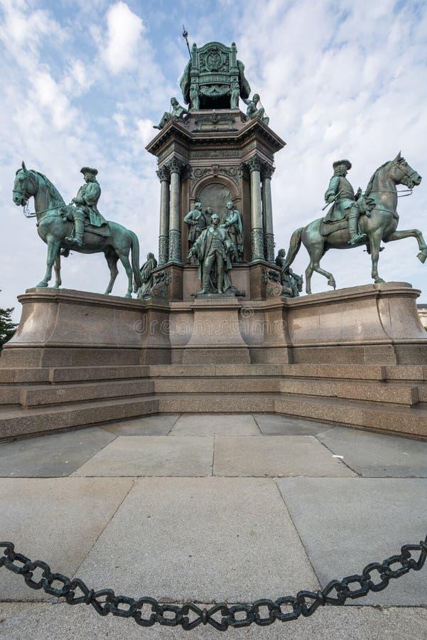 Popiera Maria Theresa statua w Wiedeń Austria obraz stock