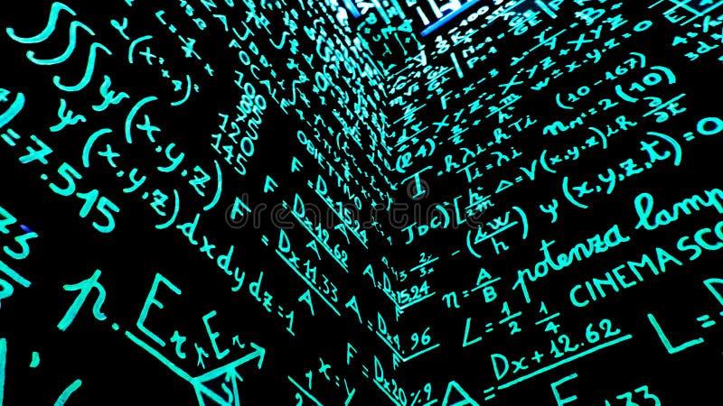 Popiera matematyki fotografia royalty free