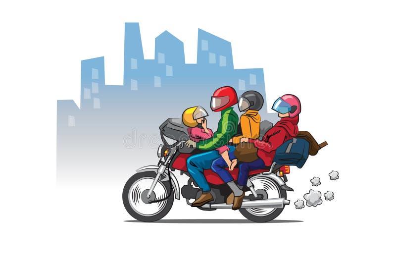 Popiera miasto rodzinne ilustracja wektor