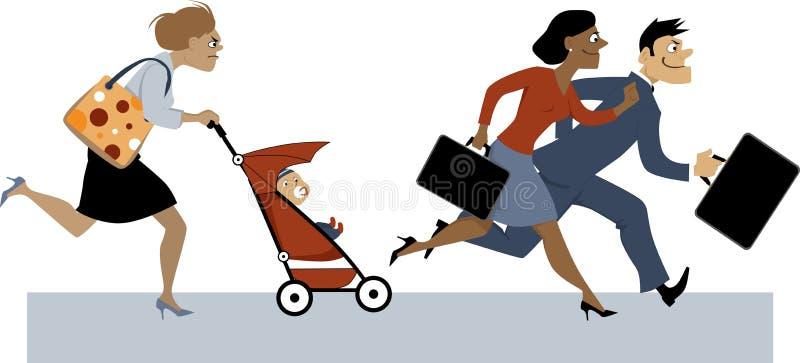 Popiera od urlopów macierzyńskich ilustracji