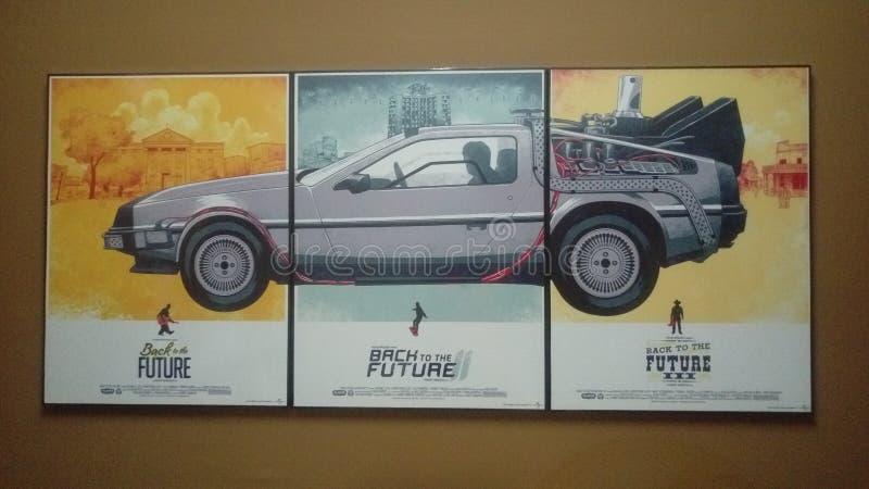 Popiera przyszłościowy plakat obrazy stock