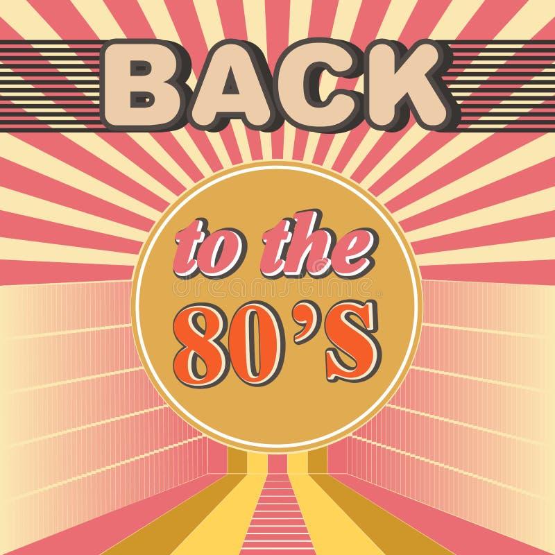 Popiera 80's retro partyjnego koloru plakatowy projekt ilustracji